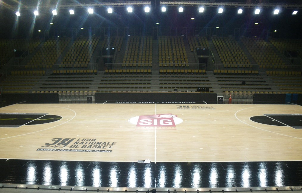 Indoor sports field lighting certification - FIBA
